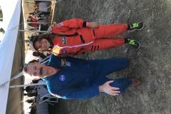 Scooter Altman and Sabrina Dahiyat in official NASA uniforms.