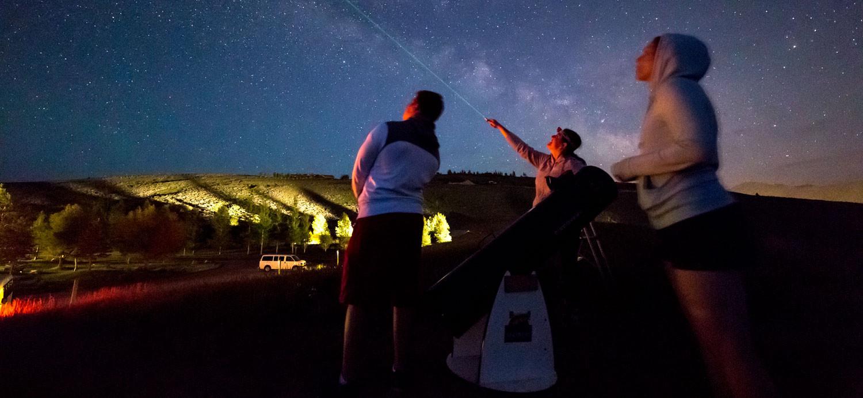 Stargazing at Spring Creek Ranch
