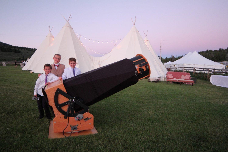 Wyoming Stargazing Wedding Setup