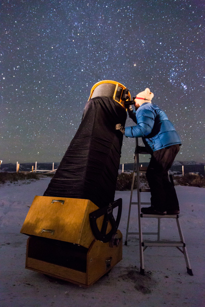 Dr. Sam Singer with 20 inch Starmaster Telescope