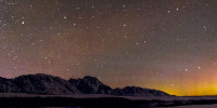 Northern Lights over Teton Mountains
