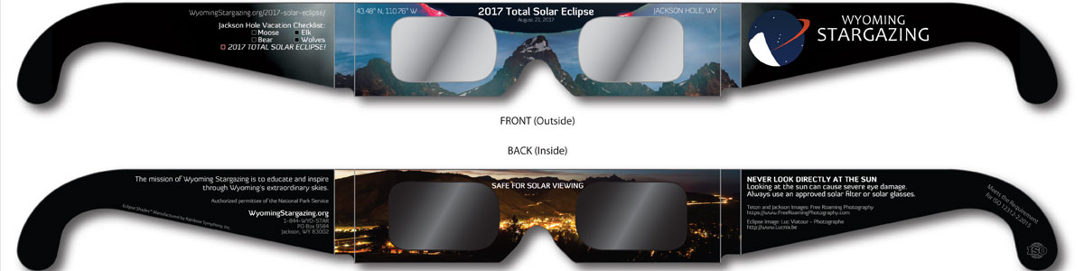 2017 Jackson Hole Eclipse Solar Glasses