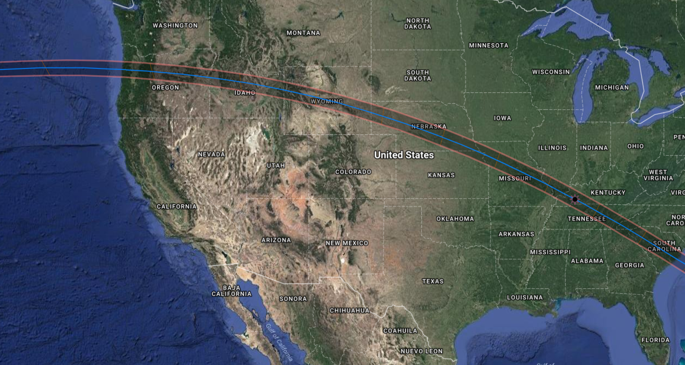100 Days Until Totality 34 Days Left An Awesome Map For Eclipse