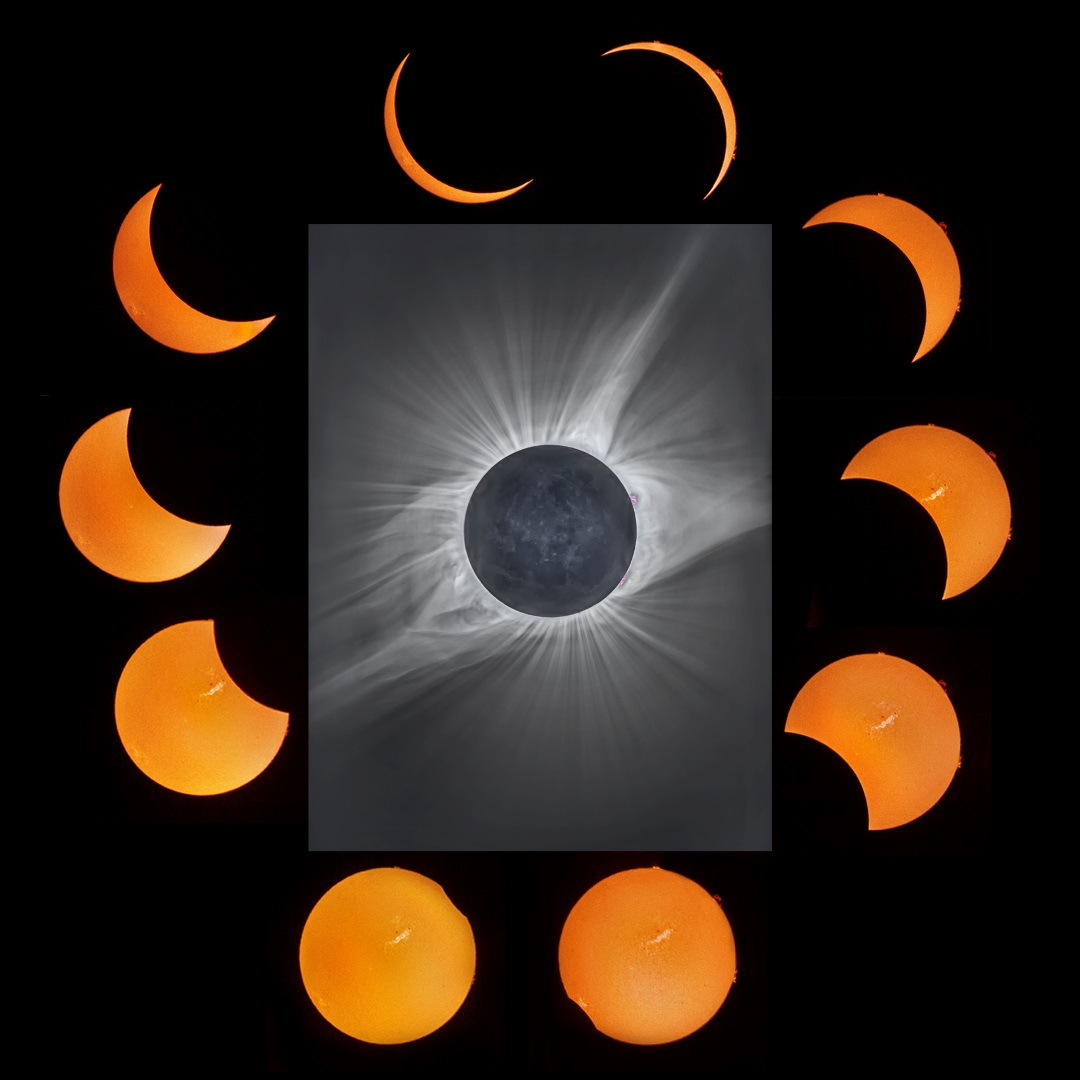 Total Solar Eclipse Mosaic